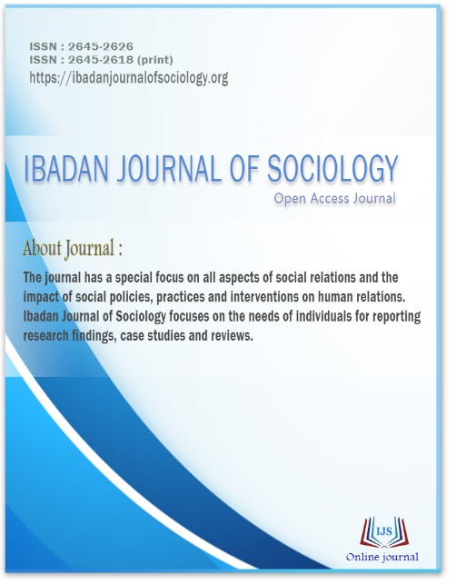Ibadan Journal of Sociology Cover Page